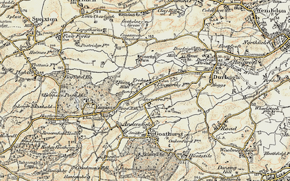 Old map of Bare Ash in 1898-1900