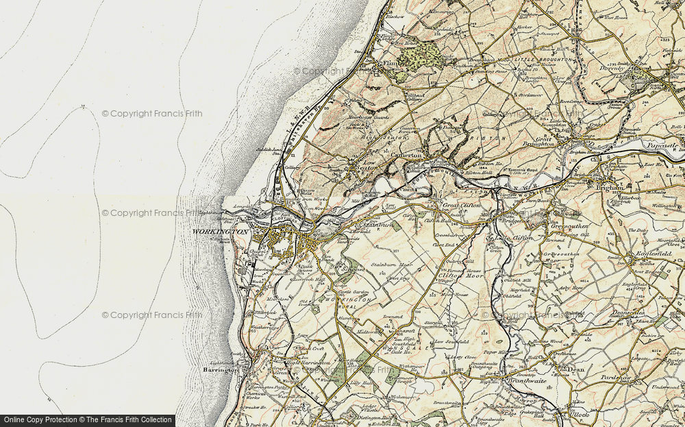 Old Map of Barepot, 1901-1904 in 1901-1904