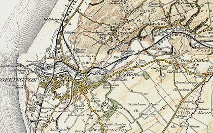 Old map of Barepot in 1901-1904