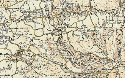 Old map of Barford in 1897-1909