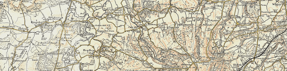 Old map of Whitmoor Vale in 1897-1909