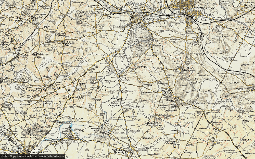 Old Map of Barford, 1899-1902 in 1899-1902