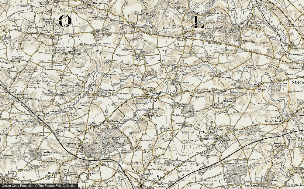 Old Map of Barford, 1901-1902 in 1901-1902