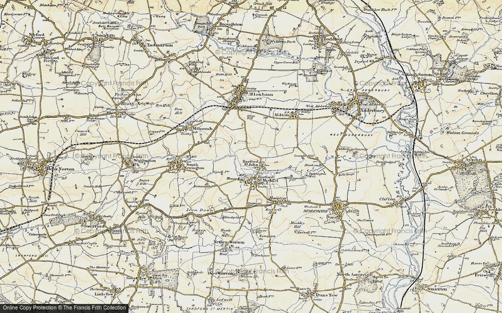 Old Map of Barford St John, 1898-1899 in 1898-1899