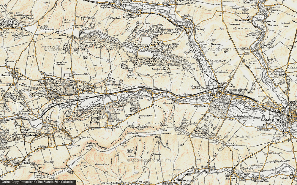 Old Map of Barford St Martin, 1897-1899 in 1897-1899