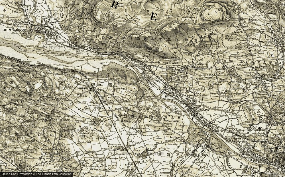 Old Map of Bargarran, 1905-1906 in 1905-1906