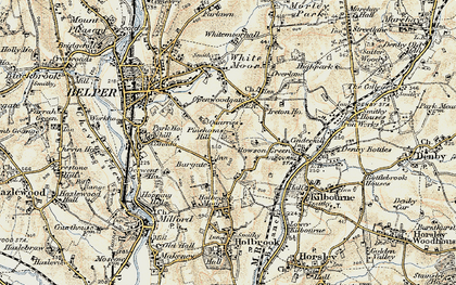 Old map of Bargate in 1902