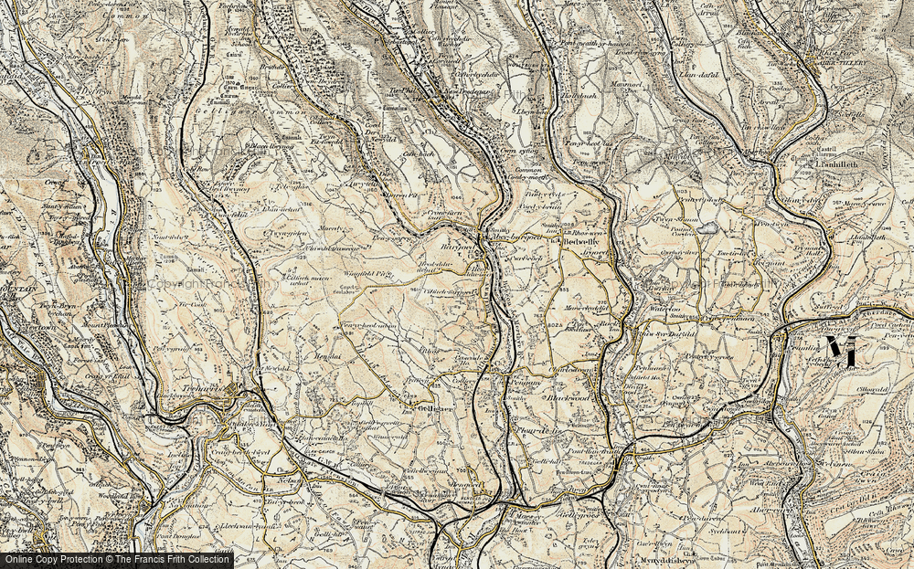 Old Map of Bargod, 1899-1900 in 1899-1900