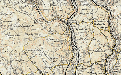 Old map of Bargoed in 1899-1900