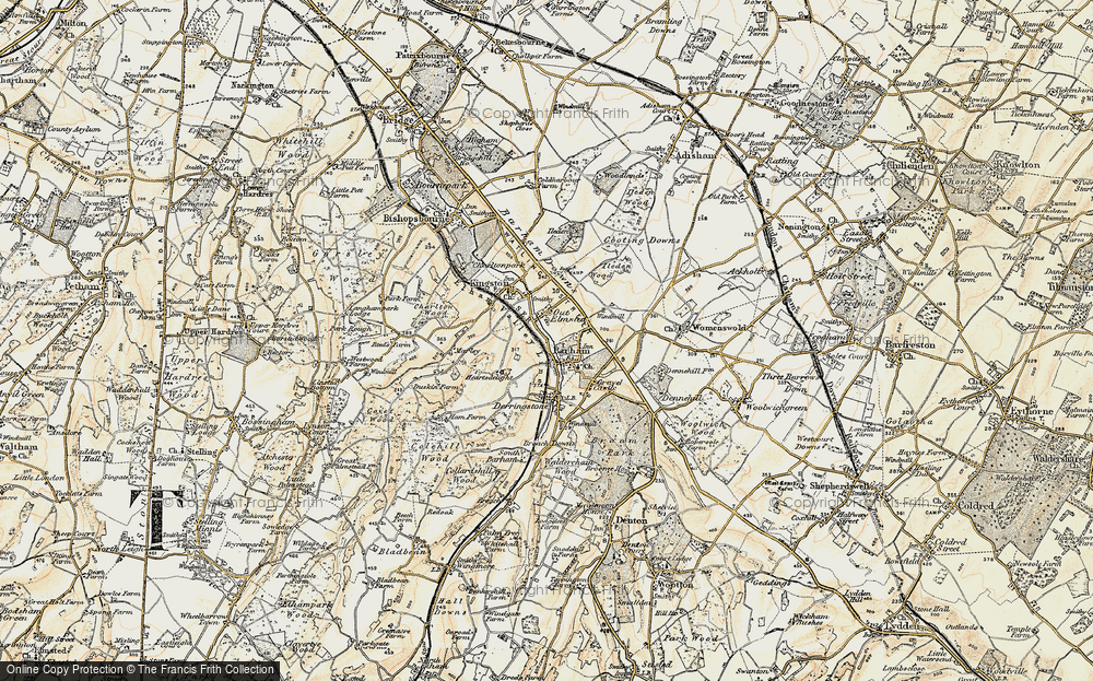 Old Map of Barham, 1898-1899 in 1898-1899