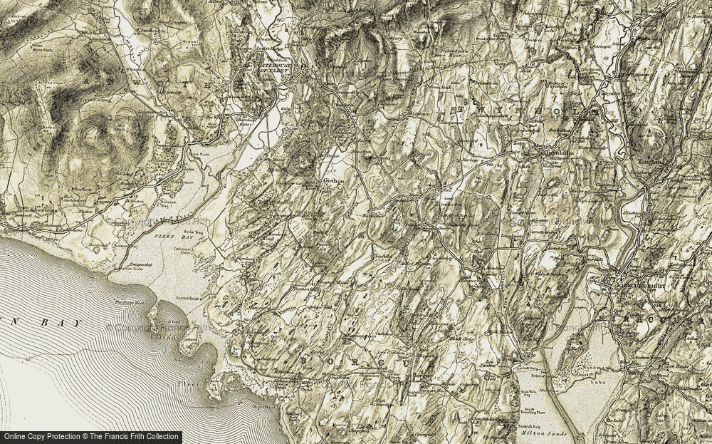 Old Map of Historic Map covering Auchenhay Hill in 1905