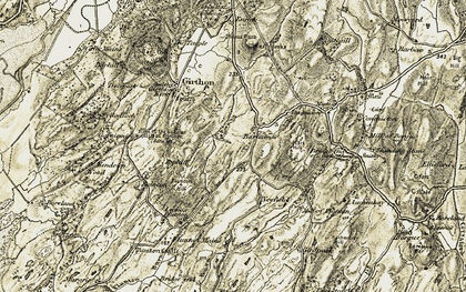 Old map of Lennox Plunton in 1905