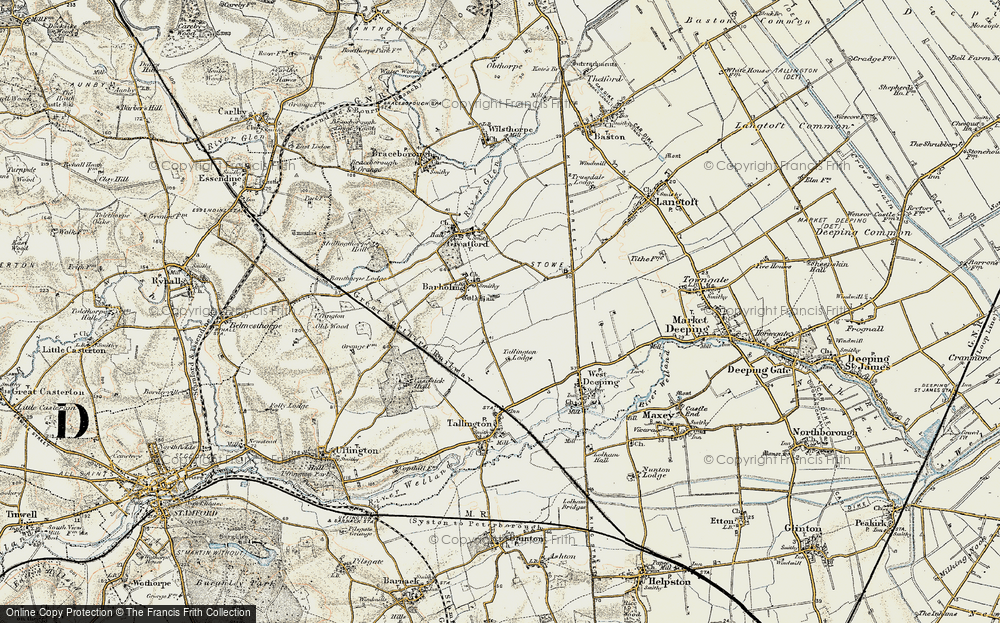 Old Map of Barholm, 1901-1902 in 1901-1902