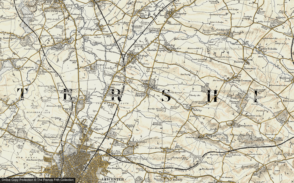 Old Map of Barkby Thorpe, 1902-1903 in 1902-1903
