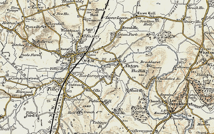 Old map of Aston Grange in 1902