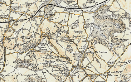 Old map of Barkers Hill in 1897-1909
