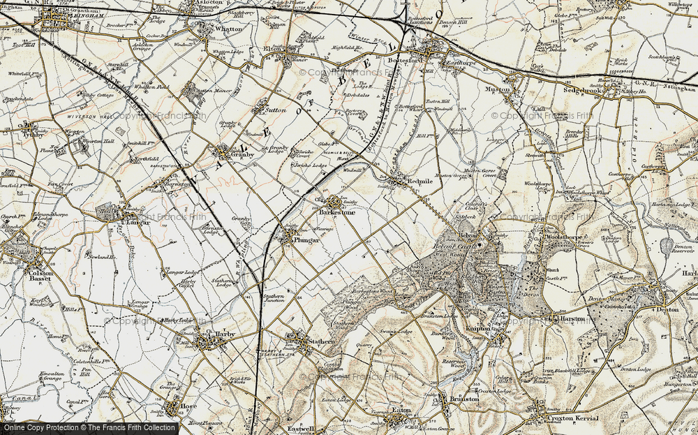 Old Map of Barkestone-le-Vale, 1902-1903 in 1902-1903