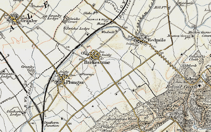 Old map of Barkestone-le-Vale in 1902-1903