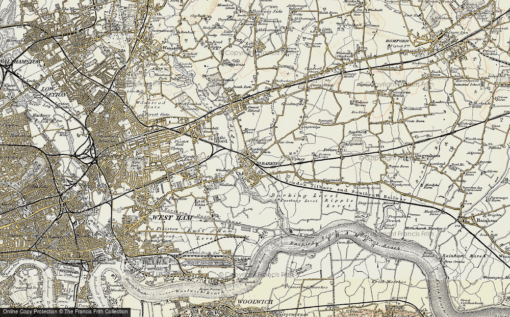 Old Map of Barking, 1897-1902 in 1897-1902