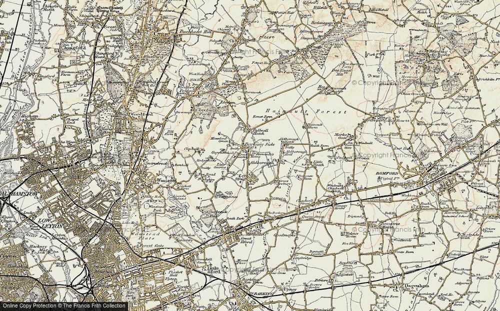 Old Map of Barkingside, 1897-1898 in 1897-1898