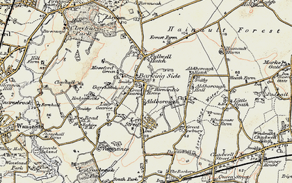 Old map of Barkingside in 1897-1898