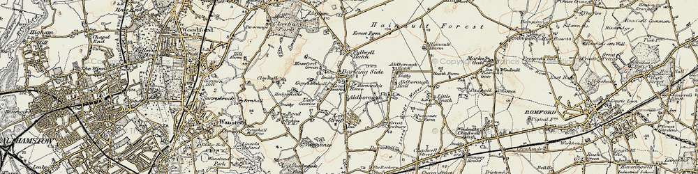 Old map of Barkingside in 1897-1898