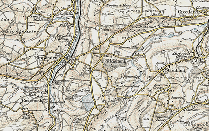 Old map of Barkisland in 1903