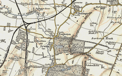 Old map of Barkston Granges in 1902-1903