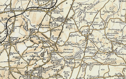 Old map of Barlake in 1899