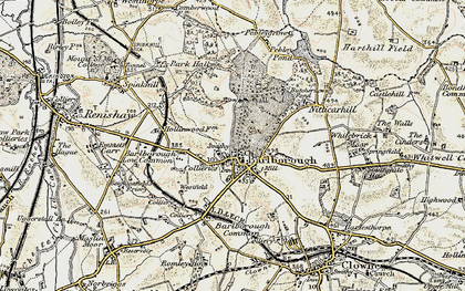Old map of Barlborough in 1902-1903
