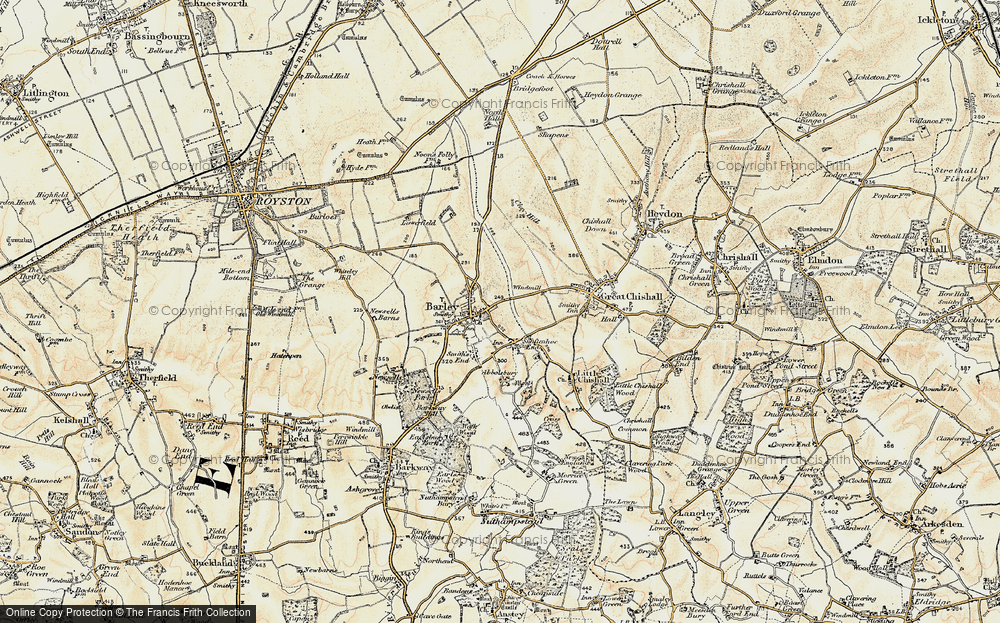 Old Map of Barley, 1898-1901 in 1898-1901