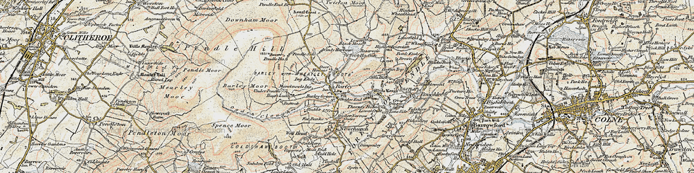 Old map of White Hough in 1903-1904