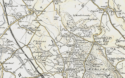 Old map of Barley End in 1898-1899