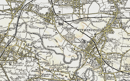 Old map of Barlow Moor in 1903