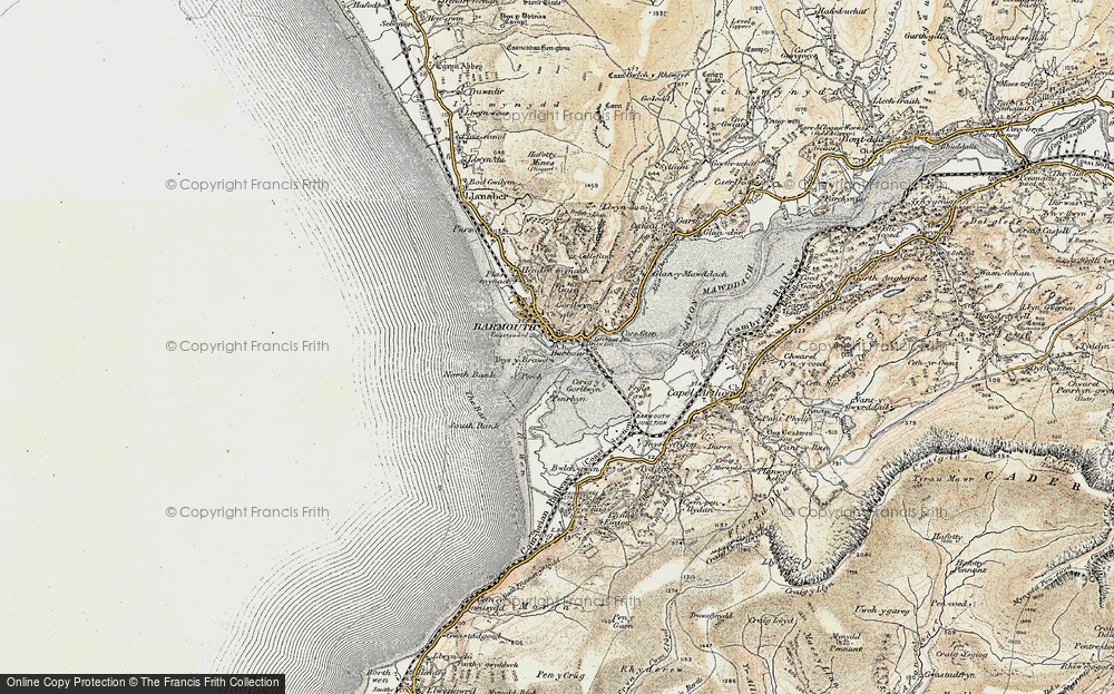 Old Map of Historic Map covering Y Perch in 1902-1903
