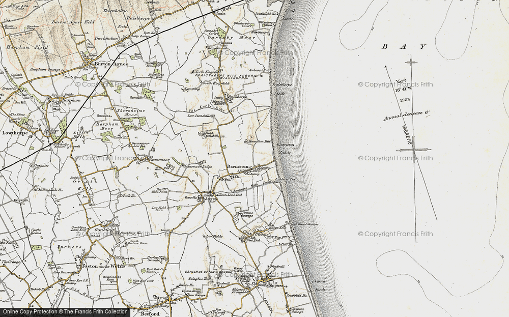 Old Map of Barmston, 1903-1904 in 1903-1904