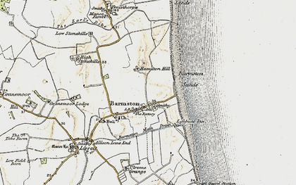 Old map of Barmston in 1903-1904