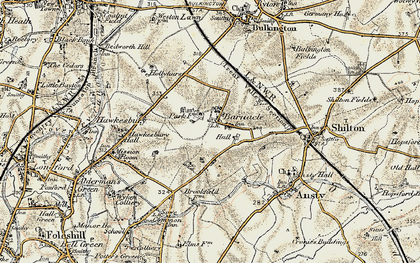 Old map of Barnacle in 1901-1902