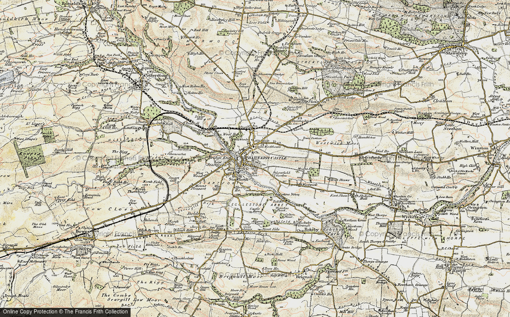 Old Map of Barnard Castle, 1903-1904 in 1903-1904