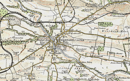 Old map of Barnard Castle in 1903-1904