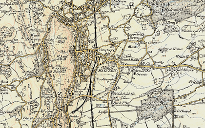 Old map of Barnard's Green in 1899-1901