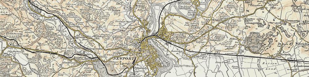 Old map of Barnardtown in 1899-1900
