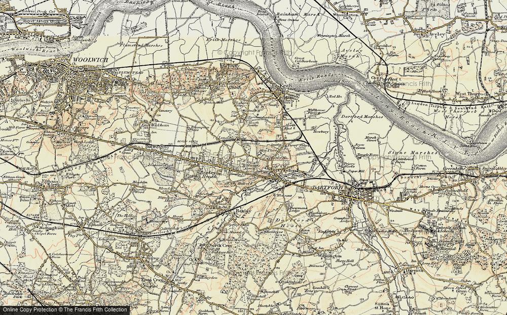 Old Map of Barnehurst, 1898 in 1898