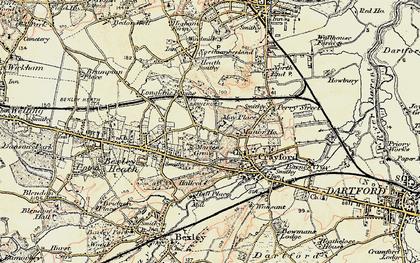 Old map of Barnehurst in 1898