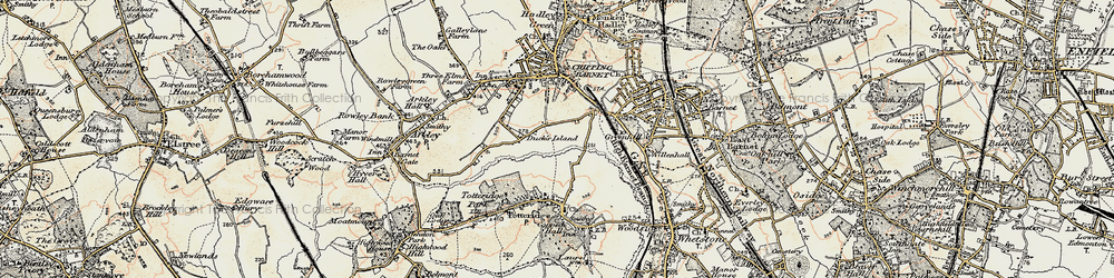 Old map of Barnet in 1897-1898