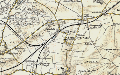 Old map of Barnetby le Wold in 1903-1908