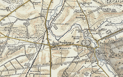 Old map of Aughton Spinney in 1901