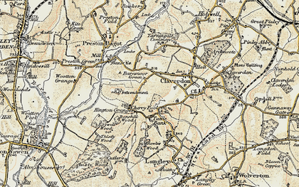 Old map of Barnmoor Green in 1899-1902