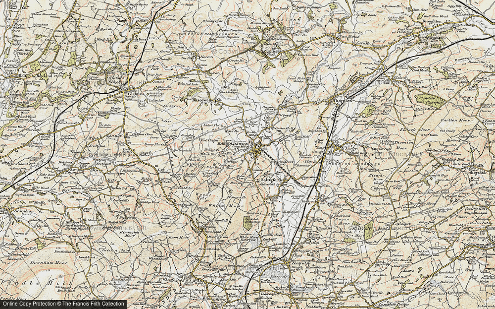 Old Map of Barnoldswick, 1903-1904 in 1903-1904