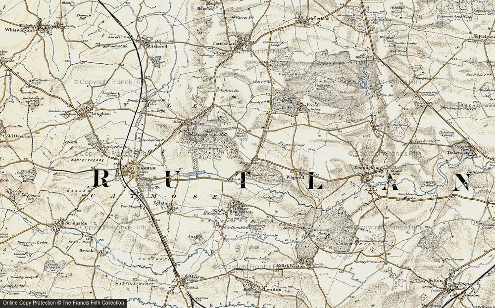 Old Map of Barnsdale, 1901-1903 in 1901-1903